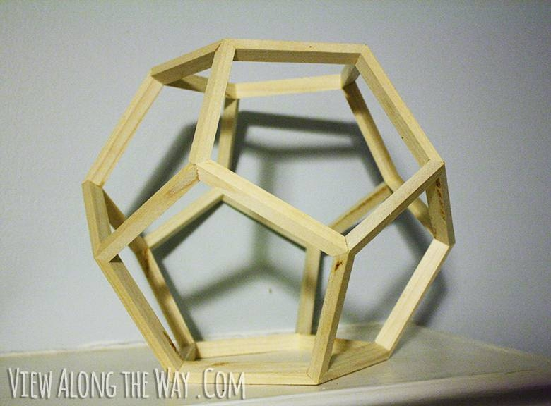 Diy Dodecahedron Pendant Light {and An Announcement!!} Within Dodecahedron Pendant Lights (View 2 of 15)