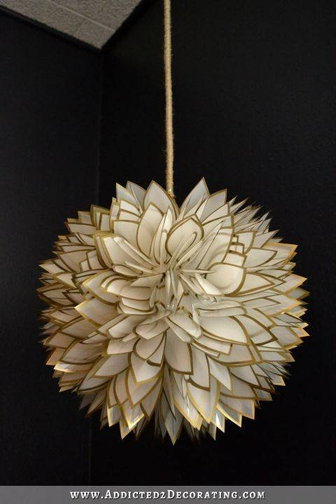 Diy Faux Capiz Shell Flower Pendant Light Intended For Shell Lights Shades Pendants (View 9 of 15)