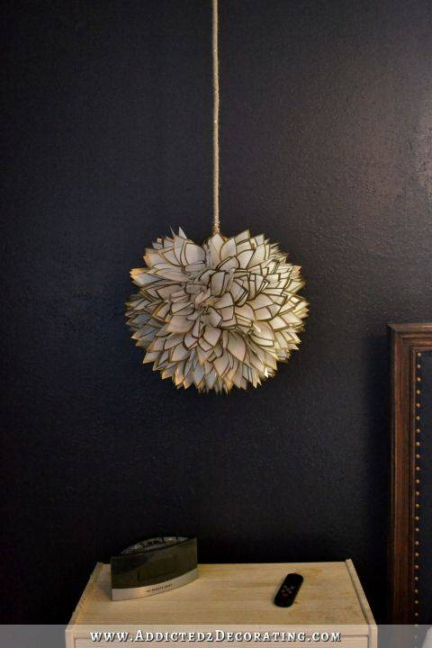 Diy Faux Capiz Shell Flower Pendant Light Throughout Shell Lights Shades Pendants (View 7 of 15)