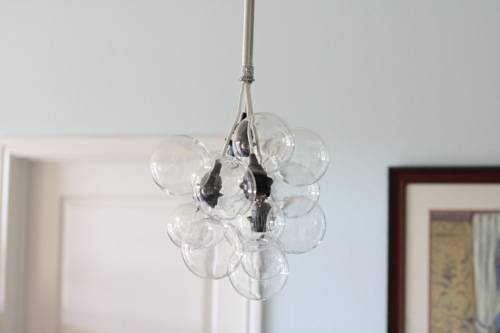 Diy Glass Bubble Chandelier – Small Notebook Inside Glass Orb Lights (#6 of 15)