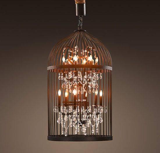 Diy Idea: Beautiful Vintage Birdcage Chandeliers : Treehugger In Birdcage Lights Fixtures (#10 of 15)