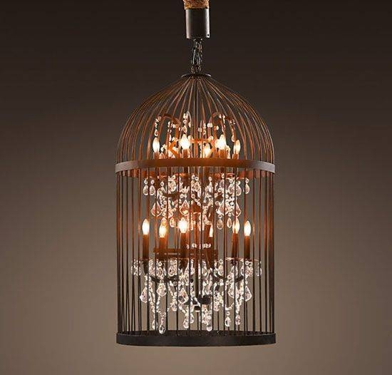 Diy Idea: Beautiful Vintage Birdcage Chandeliers : Treehugger Throughout Birdcage Lighting Chandeliers (#13 of 15)