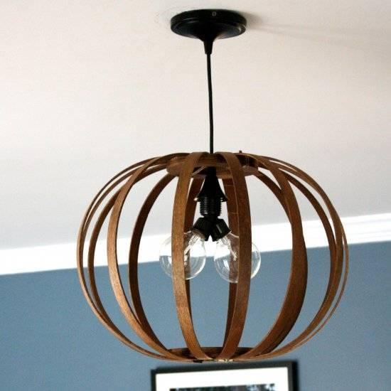 Diy Lighting Gallery   Dwellinggawker Regarding Bentwood Pendant Lights (#6 of 15)