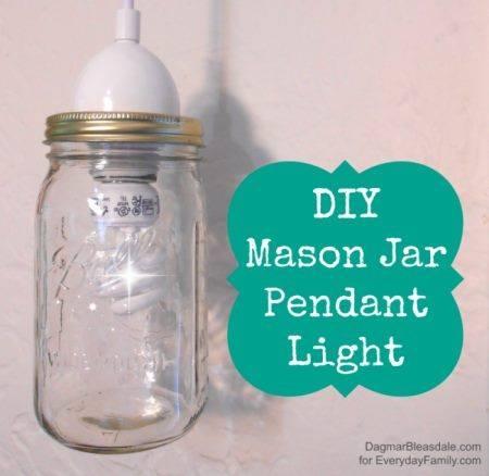 Diy Mason Jar Pendant Light Within Mason Jar Pendant Lights For Sale (#11 of 15)