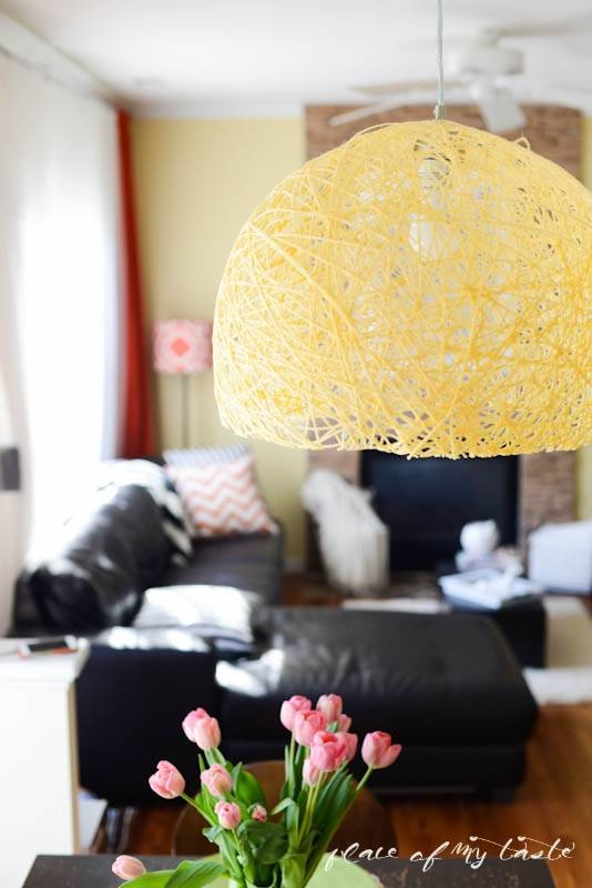 Diy Pendant Light With Super Bright Led Bulb – Place Of My Taste Throughout Diy Yarn Pendant Lights (#7 of 15)