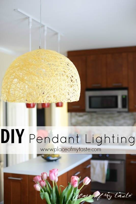 Popular Photo of Diy Yarn Pendant Lights