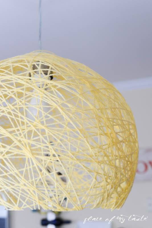 Diy Pendant Light With Super Bright Led Bulb – Place Of My Taste With Regard To Diy Yarn Pendant Lights (#8 of 15)
