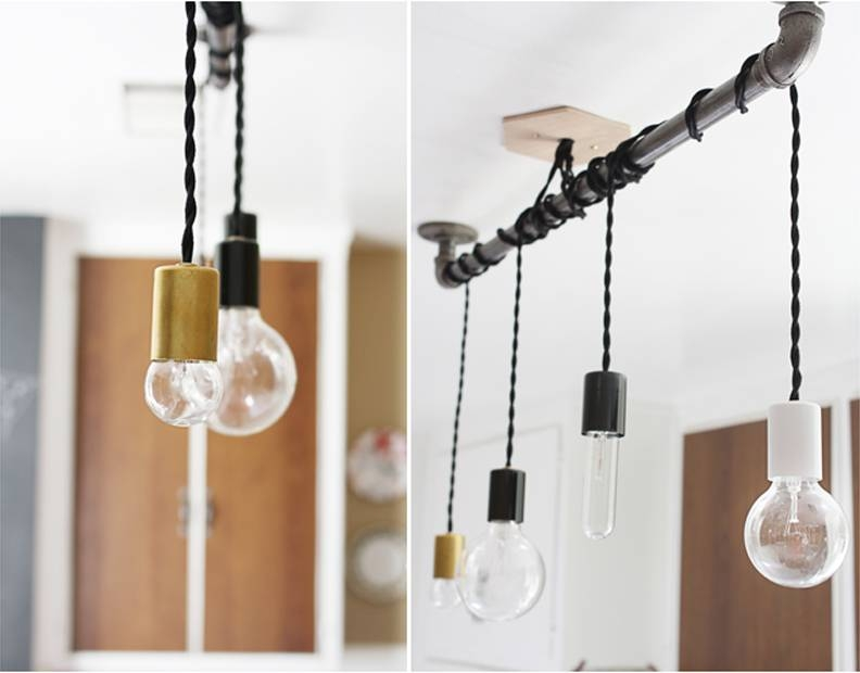 Diy Pipe Pendant Light | Hello Lidy Throughout Diy Pendant Lights (View 8 of 15)