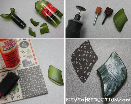 Diy Recycled Jewelry: Glass Pendant – Eve Of Reduction Inside Recycled Glass Pendants (View 13 of 15)