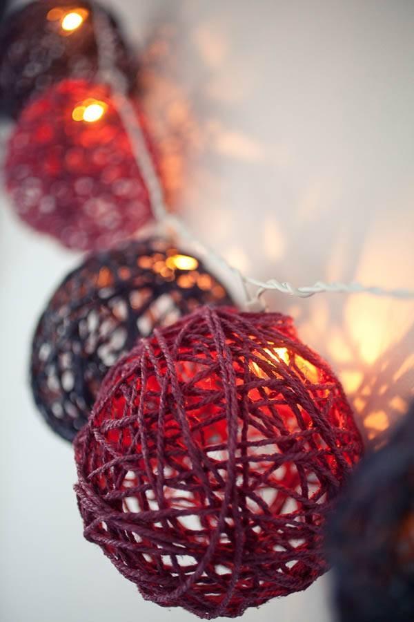 Diy Tutorial: Twine Ball Light Garland · Rock N Roll Bride Within Diy Yarn Lights (#12 of 15)
