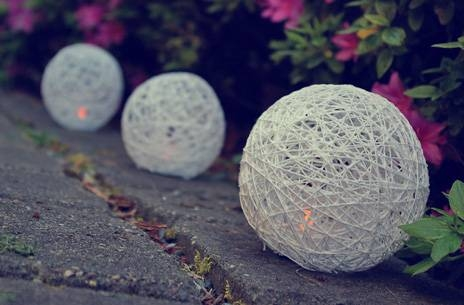 Diy Yarn Lanterns For Flameless Tea Lights And Votives For Diy Yarn Lights (#13 of 15)