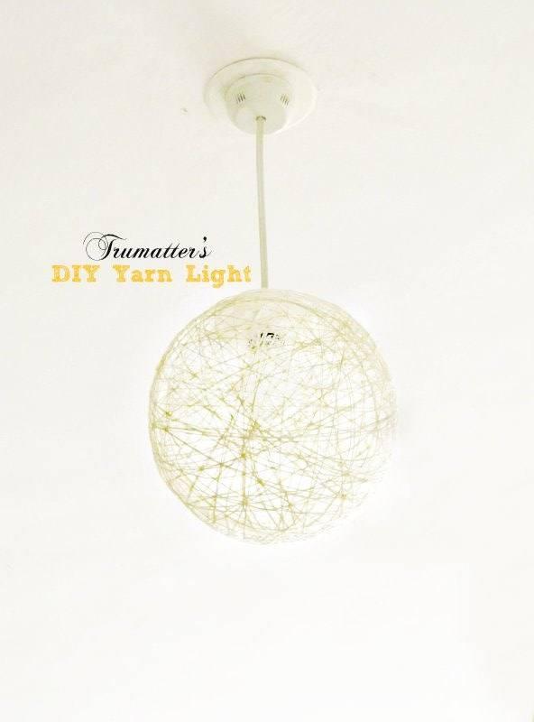 Diy Yarn Pendant Light Tutorial | Trumatter Pertaining To Diy Yarn Pendant Lights (#10 of 15)