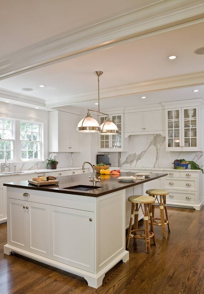 Popular Photo of Double Pendant Kitchen Lights