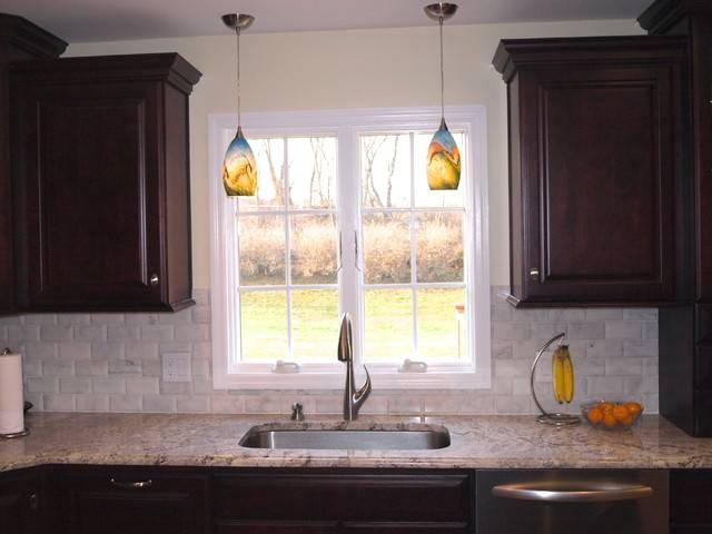 Double Pendant Lights Over Sink – Traditional – Kitchen – Newark Intended For Double Pendant Kitchen Lights (#10 of 15)