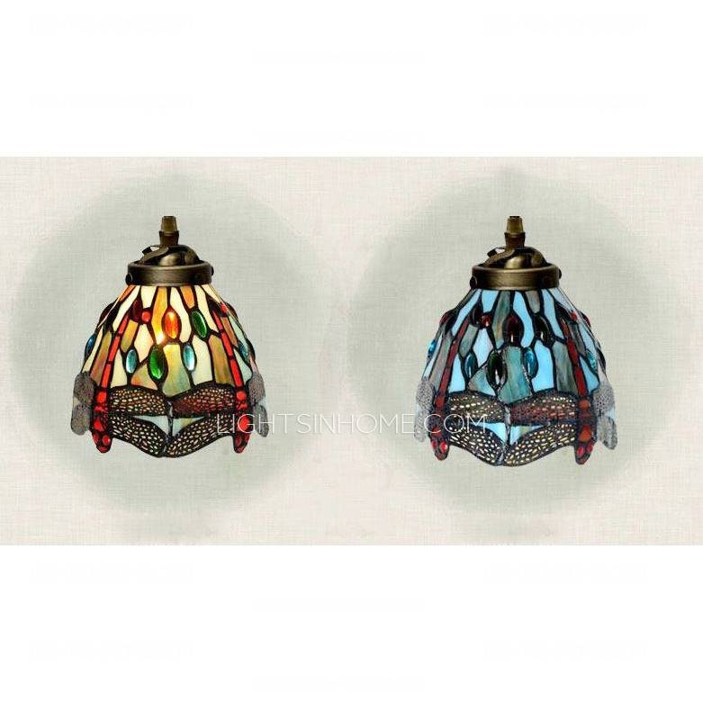 Dragonfly Pattern Stained Glass Tiffany Pendant Lights Kitchen In Stained Glass Pendant Light Patterns (View 10 of 15)