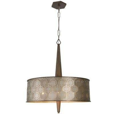Drum – Bronze – Brown – Pendant Lights – Hanging Lights – The Home Regarding Brown Drum Pendant Lights (#7 of 15)