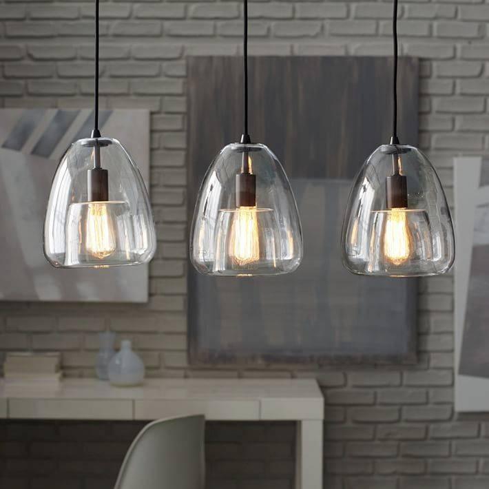Duo Walled Chandelier – 3 Light | West Elm Within West Elm Bathroom Pendant Lights (View 4 of 15)