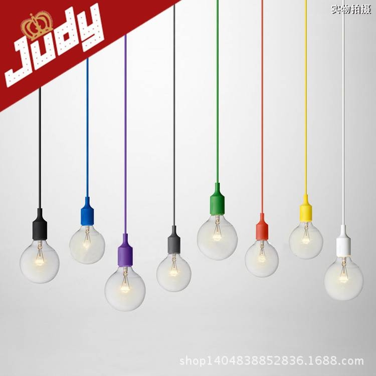 Popular Photo of Pendant Lights With Coloured Cord