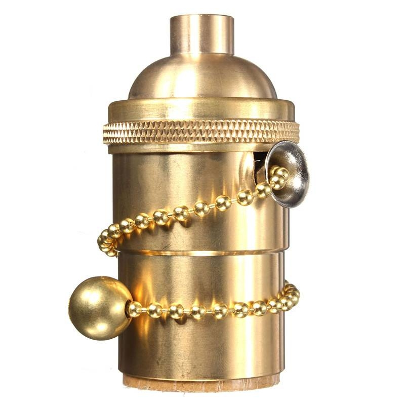 E27/e26 Solid Brass Light Socket Pull Chain On/off Vintage Edison Throughout Pull Chain Pendant Lights (#8 of 15)
