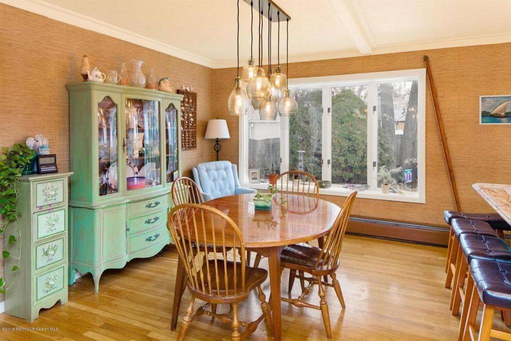 Eclectic Dining Room With Pendant Light & Crown Molding In Point With Regard To Paxton Pendant Lights (#3 of 15)