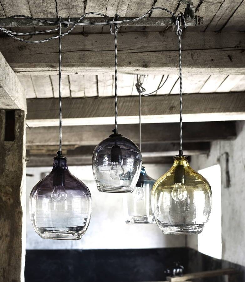 Eclectic Hand Blown Glass Pendant Lightsthe Forest & Co With Regard To Blown Glass Ceiling Lights (View 10 of 15)