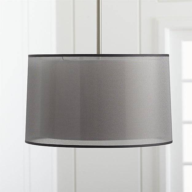 Eclipse Silver Pendant Light | Crate And Barrel In Barrel Pendant Lights (#6 of 15)