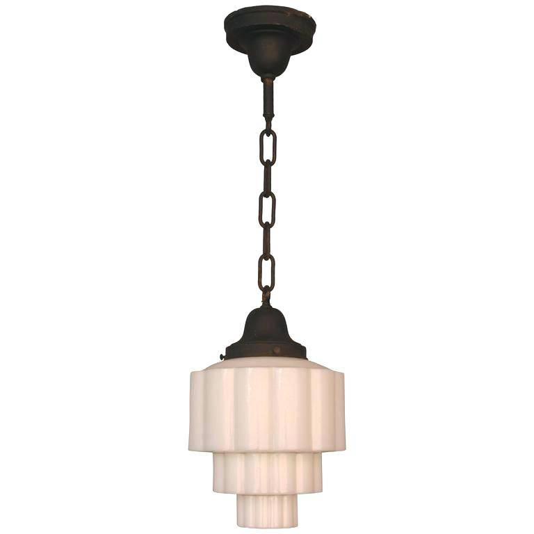 Ecobrt Retro Vintage Art Deco Pendant Light Lamp Loft Creative Throughout Milk Glass Australia Pendant Lights (#11 of 15)