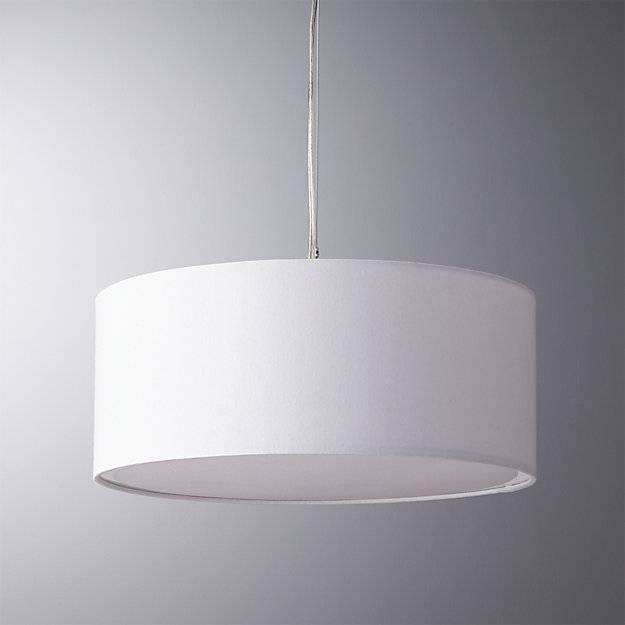 Eden White Pendant Light | Cb2 Intended For Plain Pendant Lights (#12 of 15)