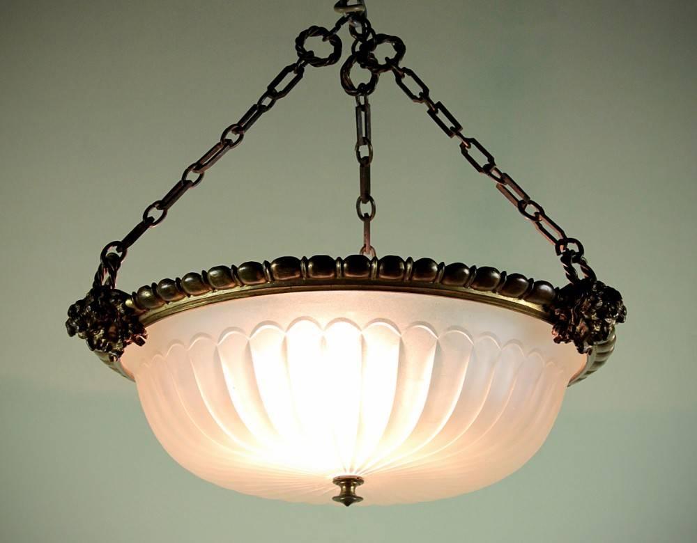Edwardian Hanging Light Shade C.1905. | 288571 | Sellingantiques.co (View 7 of 15)