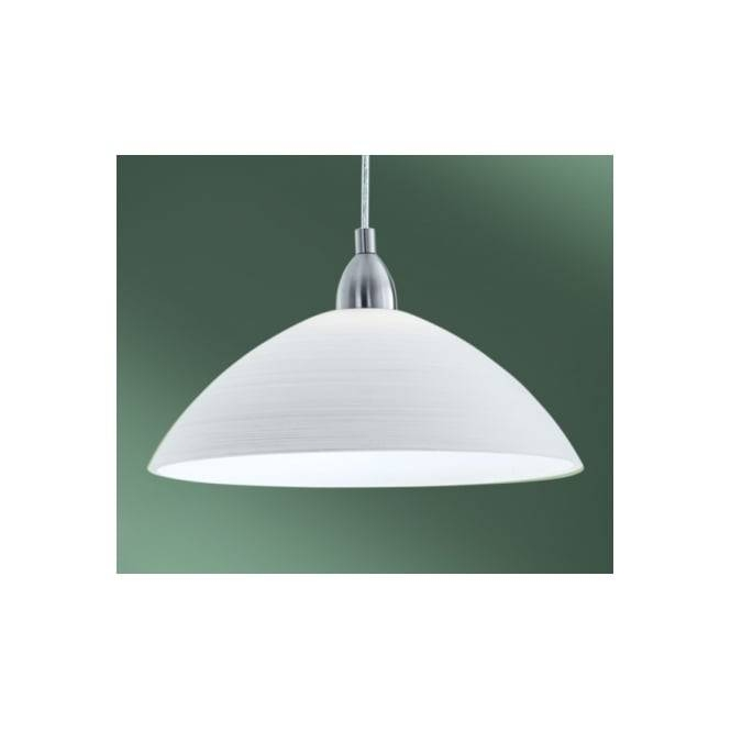 Eglo Eglo 88491 Lord3 1 Light Modern Pendant Ceiling Light White Throughout Glass Pendant Lights Shades Uk (View 1 of 15)