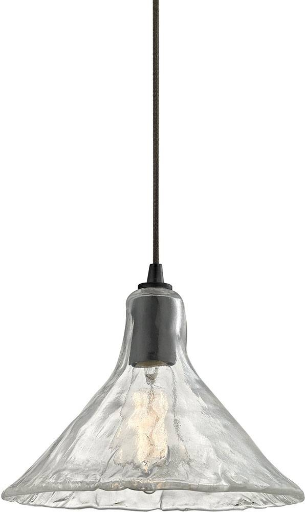 Elk 10435 1 Hand Formed Glass Modern Oil Rubbed Bronze Mini Regarding Oil Rubbed Bronze Mini Pendant Lights (#11 of 15)