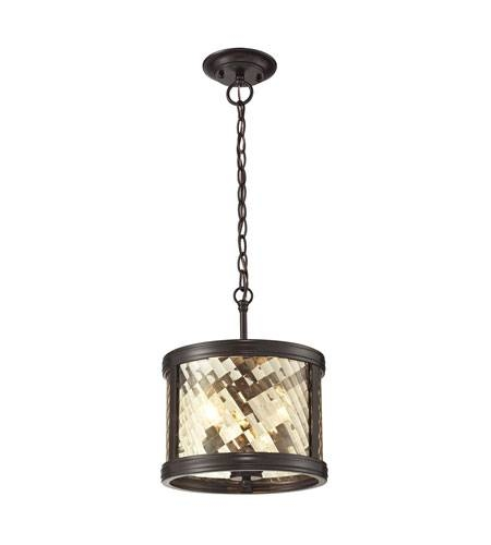 elk chandler 3 light 11 inch oil rubbed bronze pendant within oiled bronze