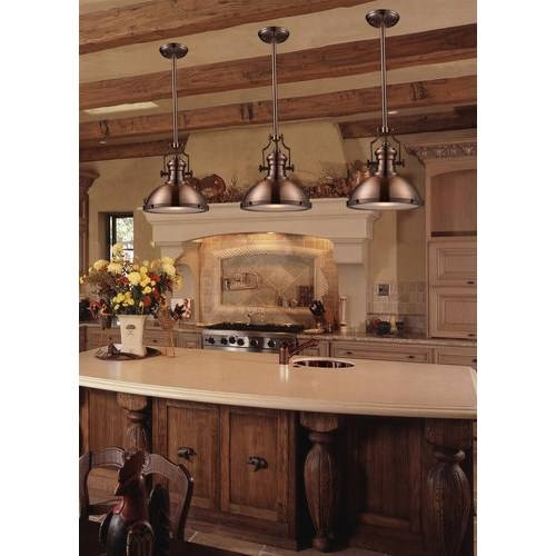 Elk 66148 1 Chadwick 1 Light Pendant In Antique Copper – Homeclick With Regard To Landmark Lighting Chadwick Pendants (#1 of 15)