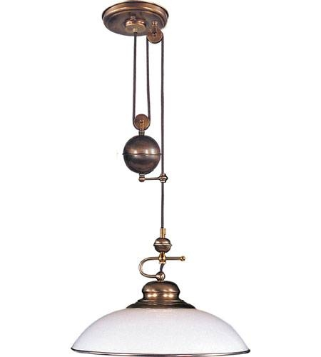 Elk Lighting Classic Pulldown 1 Light Pendant In Antique Brass 6662/1 Inside Pull Down Pendant Lighting (#7 of 15)