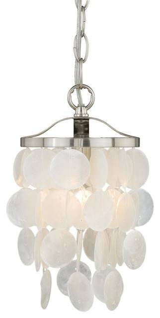 "Elsa Capiz Shell 5"" Mini Pendant Light – Beach Style – Pendant For Beach Style Pendant Lights (View 4 of 15)"