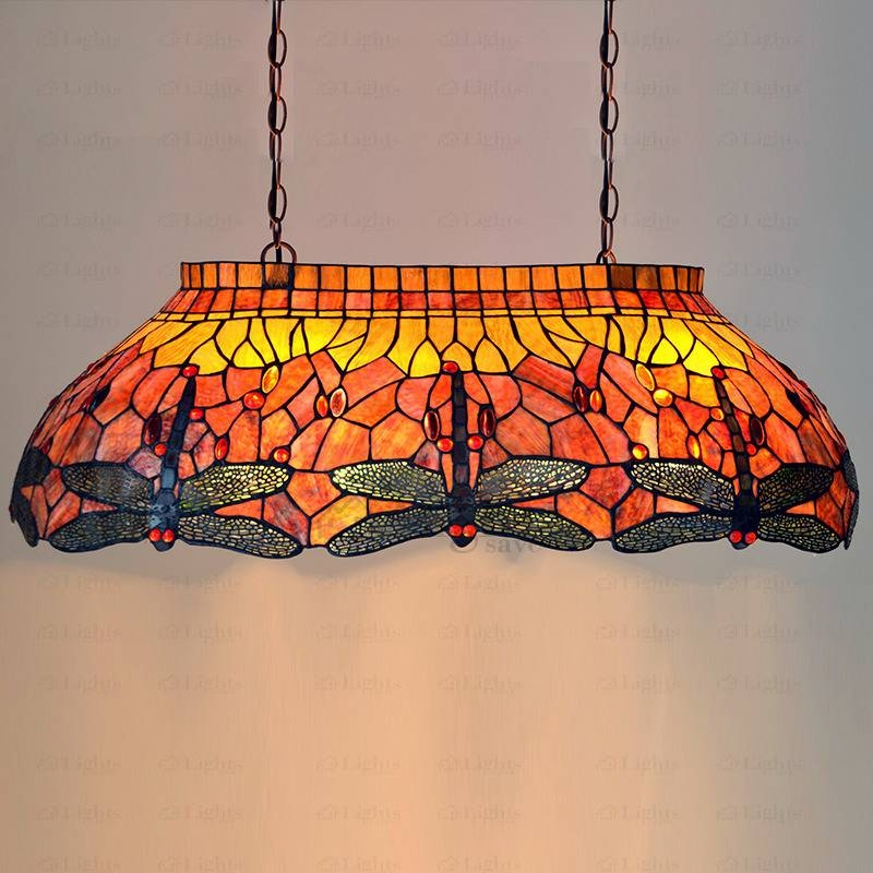 End Stained Glass Pendant Lighting Dragonfly Pattern Throughout Stained Glass Pendant Light Patterns (View 12 of 15)