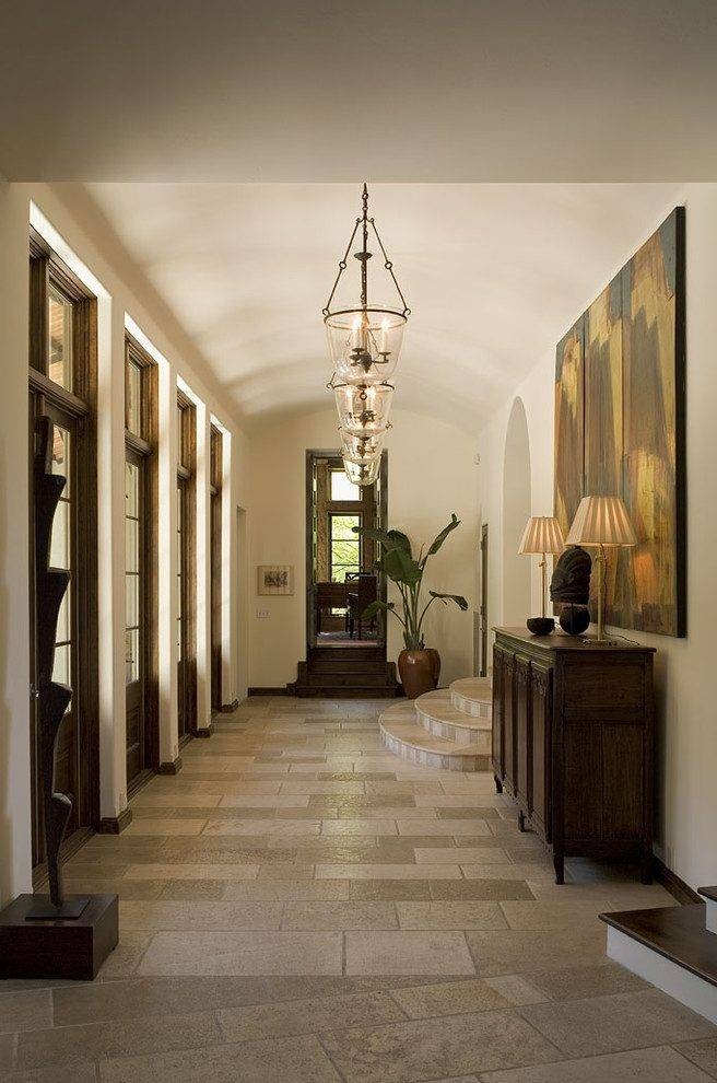 Entry Hall Lighting Ideas Hall Traditional With Curved Steps Intended For Entry Hall Pendant Lighting (#6 of 15)