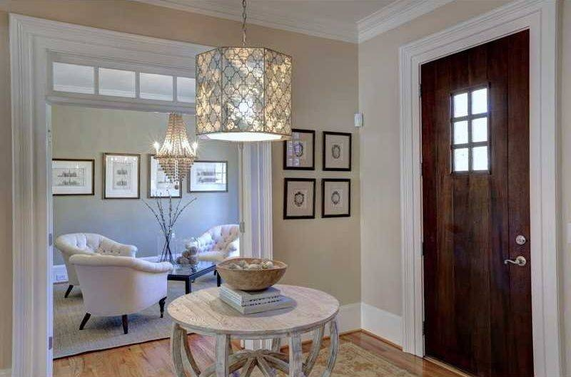 Entryway With Pendant Light & Hardwood Floors In Atlanta, Ga With Regard To Entryway Pendant Lights (#8 of 15)