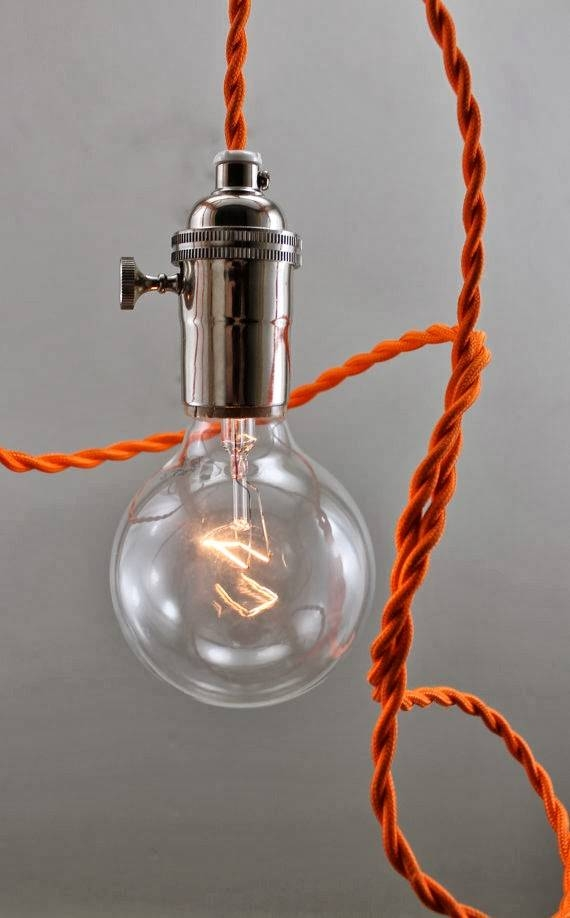 Epbot: Wire Your Own Pendant Lighting – Cheap, Easy, & Fun! With Coloured Cord Pendant Lights (#14 of 15)