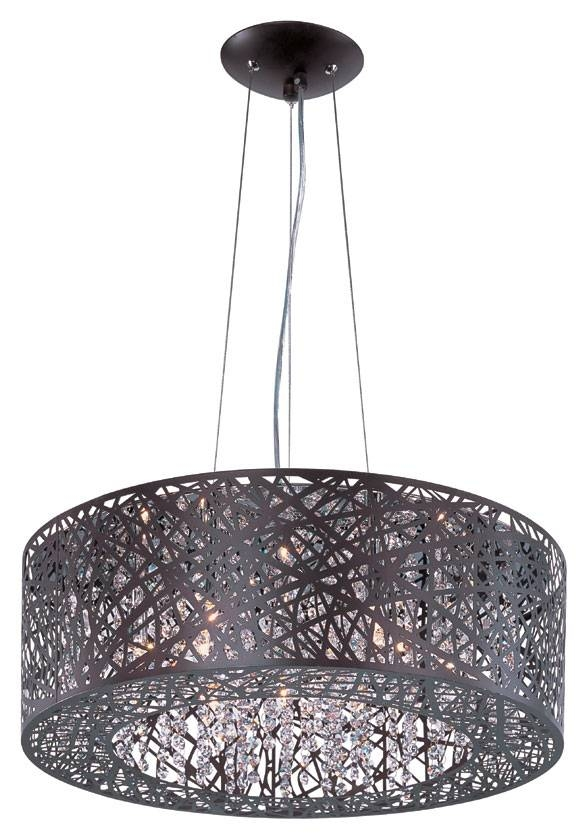 """Et2 E21308 10Bz Contemporary Bronze 1"""" Tall Hanging Drum Pendant In Black And White Drum Pendant Lights (View 6 of 15)"""