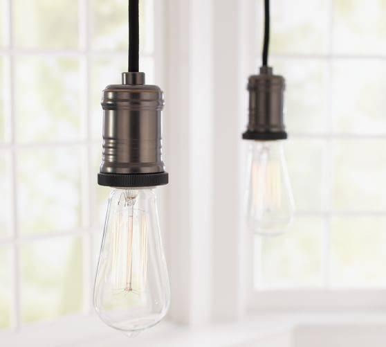 Popular Photo of Exposed Bulb Pendant Track Lighting