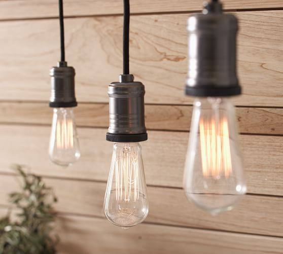 Exposed Bulb Pendant Track Lighting | Pottery Barn Inside Exposed Bulb Pendants (#8 of 15)