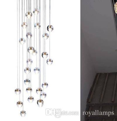 Extra Long Led Chandelier Stair Light Hotel Big Novelty G4 Led Pertaining To Extra Long Pendant Lights (#12 of 15)