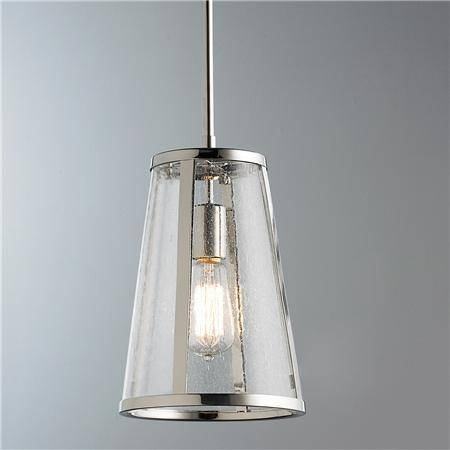 Fancy Seeded Glass Pendant Light Seeded Glass Transitional Mini In Glass Shades For Mini Pendant Lights (#5 of 15)