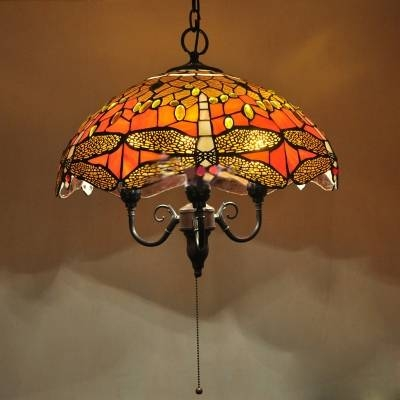 Fashion Style Dragonfly Tiffany Lights – Beautifulhalo In Pull Chain Pendant Lights (#9 of 15)