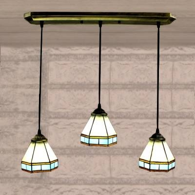 Fashion Style Pendant Lighting, Blue Tiffany Lights With Stained Glass Pendant Light Patterns (View 13 of 15)