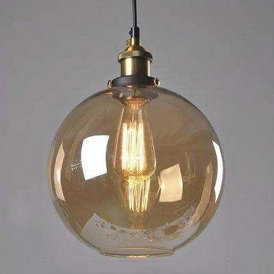 Fashion Style Pendant Lights, Amber Industrial Lighting Throughout Brown Glass Pendant Lights (#9 of 15)