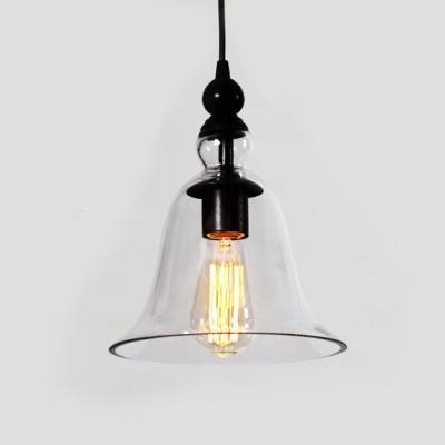 Fashion Style Pendant Lights, Bell Industrial Lighting Intended For Glass Bell Shaped Pendant Light (#12 of 15)