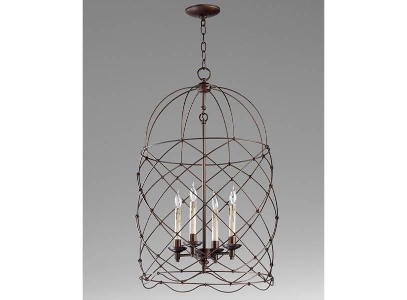 Foyer Birdcage Chandelier Within Birdcage Lights Fixtures (#12 of 15)