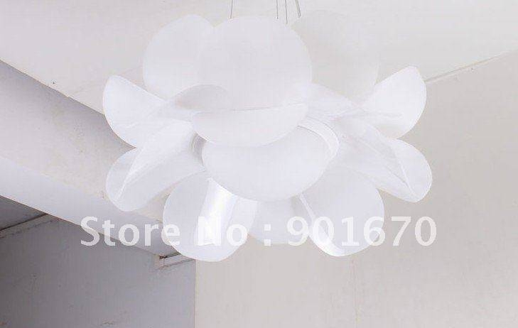 15 best collection of white flower pendant lights free shipping d55cm white acrylic lotus flower modern pendant lamp within white flower pendant lights mightylinksfo